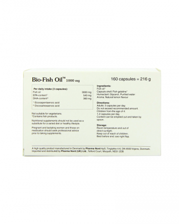 Bio-fish Oil back of pack